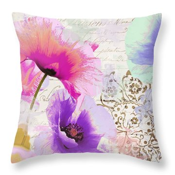 Paint And Poppies Throw Pillow
