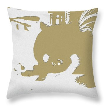 Cutie Throw Pillow by Roro Rop