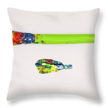 Paint Brush Of The Soul Throw Pillow