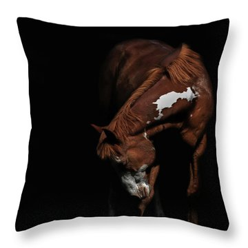 Paint In Black II Throw Pillow