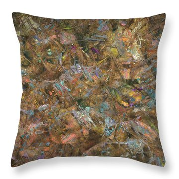 Paint Number 18 Throw Pillow by James W Johnson