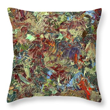 Paint Number 21 Throw Pillow by James W Johnson