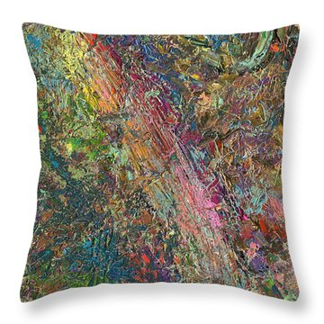 Paint Number 27 Throw Pillow by James W Johnson