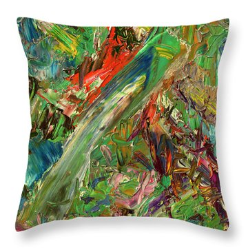 Paint Number 32 Throw Pillow by James W Johnson