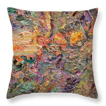 Paint Number 34 Throw Pillow by James W Johnson
