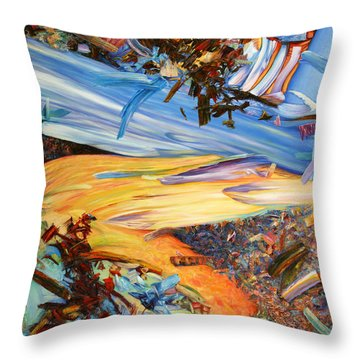Paint Number 38 Throw Pillow by James W Johnson