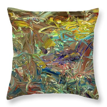 Paint Number46 Throw Pillow