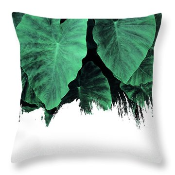 Paint On Jungle Throw Pillow