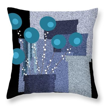 Paint Pots And Flowers Throw Pillow