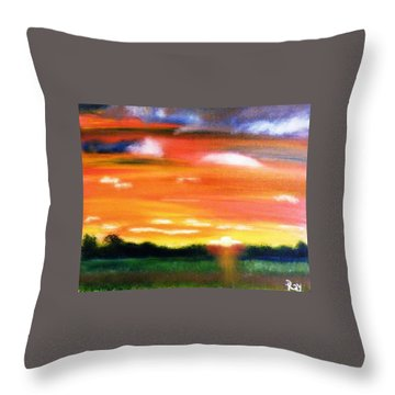 Throw Pillow featuring the painting Paint The Sky by  Debbie