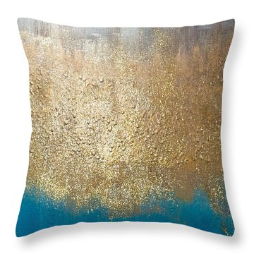 Paint The Sky Gold Throw Pillow