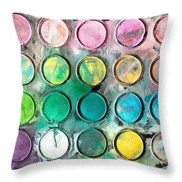 Paint Tray Throw Pillow