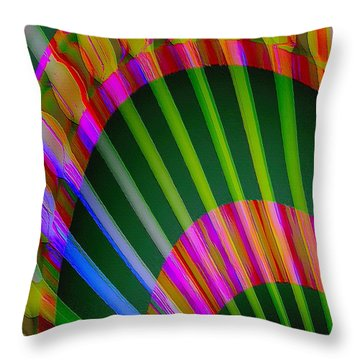 Throw Pillow featuring the digital art Paintbrushes by Visual Artist Frank Bonilla