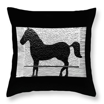 Throw Pillow featuring the photograph Painted Black - Stone Pony by Colleen Kammerer