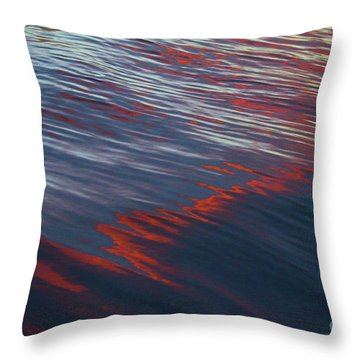 Painted By Nature - Water On The Flight Through The Fiery Skies Throw Pillow