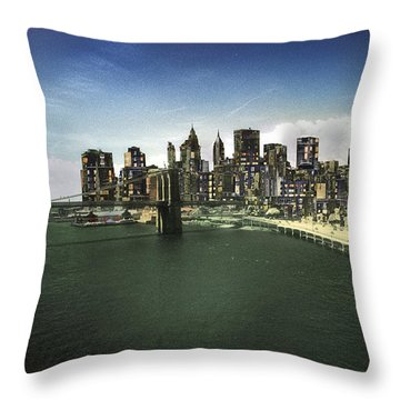 Throw Pillow featuring the photograph Painted City by Dave Beckerman
