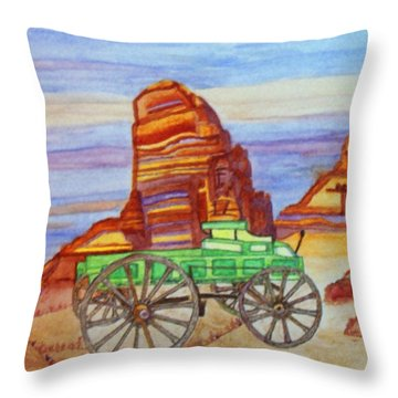 Throw Pillow featuring the painting Painted Desert by Connie Valasco