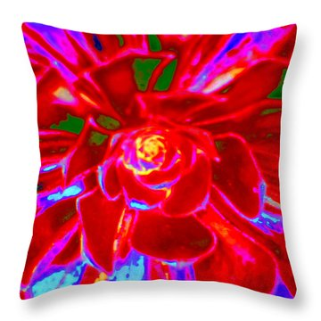 Carnival Colors Throw Pillow