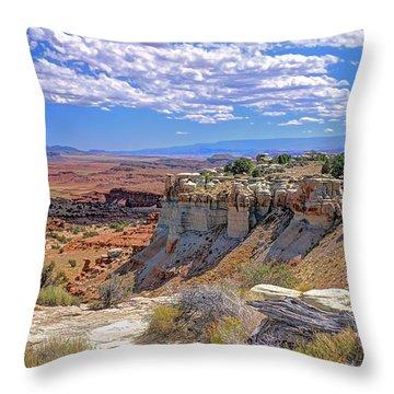 Painted Desert Of Utah Throw Pillow