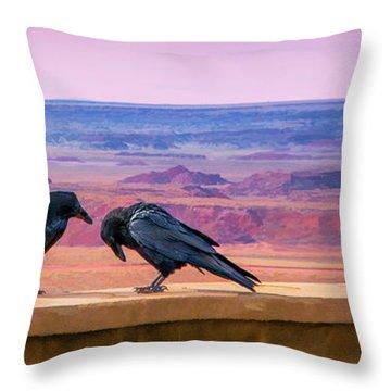 Painted Desert Pals Throw Pillow