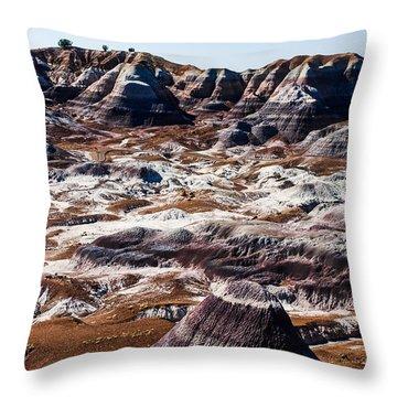 Painted Desert Purple Peak Throw Pillow