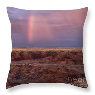 Painted Desert Rainbow Throw Pillow