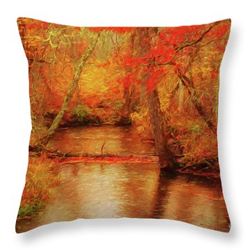 Painted Fall Throw Pillow