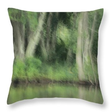 Painted Forest  Throw Pillow by Karol Livote