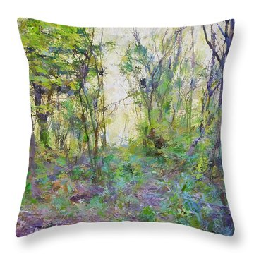Painted Forrest Throw Pillow