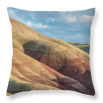 Throw Pillow featuring the photograph Painted Hill And Clouds by Greg Nyquist