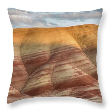 Throw Pillow featuring the photograph Painted Hill At Last Light by Greg Nyquist