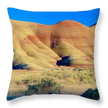 Painted Hills Extreme Pano  Throw Pillow