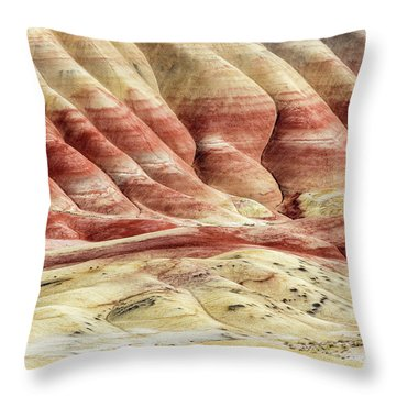 Painted Hills Landscape Throw Pillow