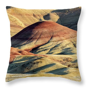 Painted Hills, Oregon Throw Pillow by Jerry Fornarotto