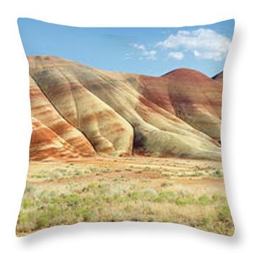 Painted Hills Pano 1 Throw Pillow by Jerry Fornarotto