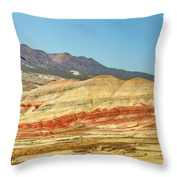 Painted Hills Pano 2 Throw Pillow by Jerry Fornarotto