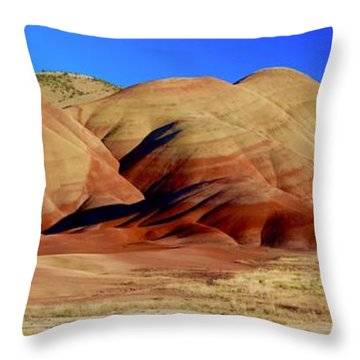 Painted Hills Pano Throw Pillow