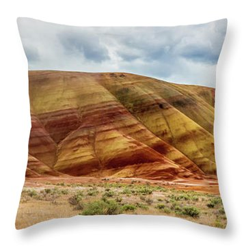 Painted Hills Panorama 2 Throw Pillow