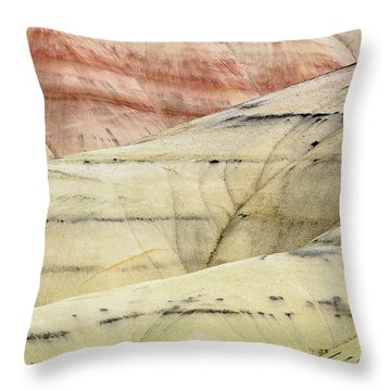 Throw Pillow featuring the photograph Painted Hills Ridge by Greg Nyquist