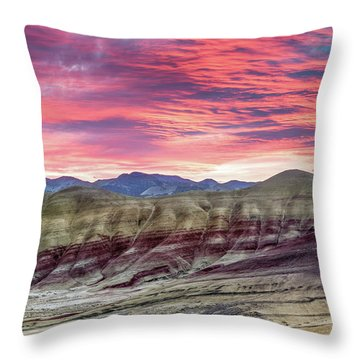 Painted Hills Sunrise Throw Pillow