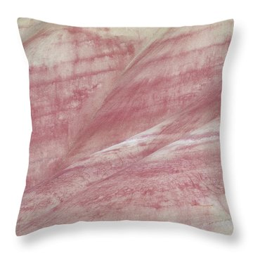 Painted Hills Textures 1 Throw Pillow by Leland D Howard