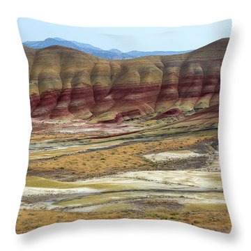 Painted Hills View From Overlook Throw Pillow