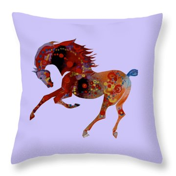 Painted Horse 3 Throw Pillow