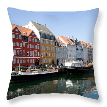 Painted Houses Throw Pillow