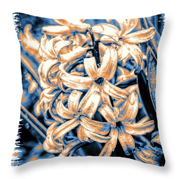 Painted Hyacinth Throw Pillow