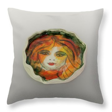 Painted Lady-1 Throw Pillow