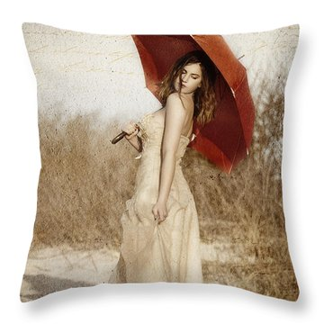 Painted Lady Narrow Throw Pillow