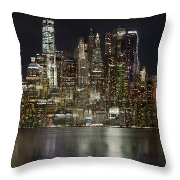 Painted Lights Throw Pillow