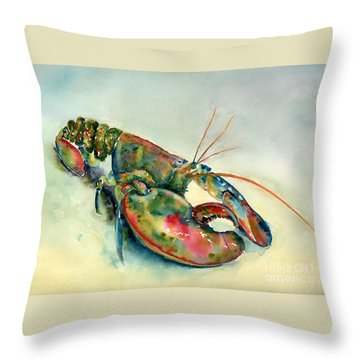 Painted Lobster Throw Pillow