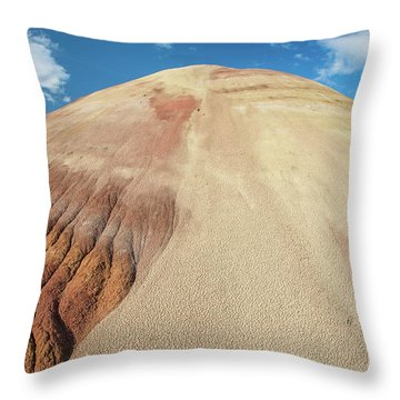 Painted Mound Throw Pillow by Greg Nyquist